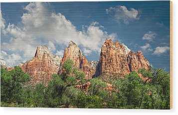 Wood Print featuring the photograph Zion Court Of The Patriarchs by Tammy Wetzel
