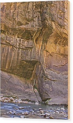 Wood Print featuring the photograph Zion Narrows by Ruth Jolly