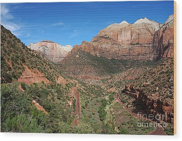 206p Zion National Park Wood Print by NightVisions