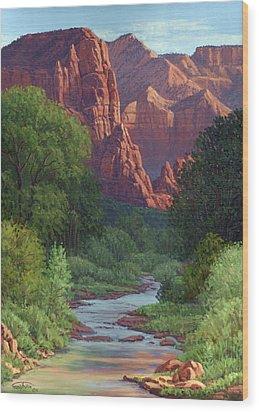 Zion Wood Print by Randy Follis