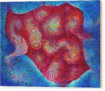 Zipper Wood Print by Josh Long