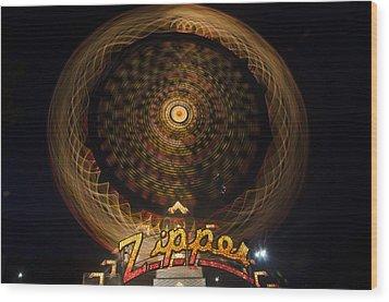 Zipper Wood Print by Steve Myrick