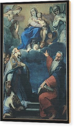 Zoboli Giacomo, Madonna And Child Wood Print by Everett