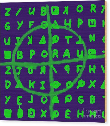 Zodiac Killer Code And Sign 20130213p128 Wood Print by Wingsdomain Art and Photography