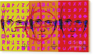 Zodiac Killer Three With Code And Sign 20130213 Wood Print by Wingsdomain Art and Photography