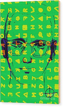 Zodiac Killer With Code And Sign 20130213 Wood Print by Wingsdomain Art and Photography
