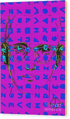 Zodiac Killer With Code And Sign 20130213m180 Wood Print by Wingsdomain Art and Photography