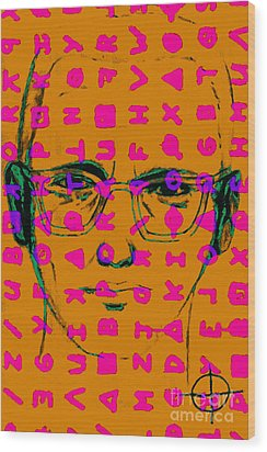 Zodiac Killer With Code And Sign 20130213m80 Wood Print by Wingsdomain Art and Photography