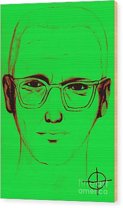 Zodiac Killer With Sign 20130213 Wood Print by Wingsdomain Art and Photography
