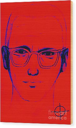 Zodiac Killer With Sign 20130213m128 Wood Print by Wingsdomain Art and Photography