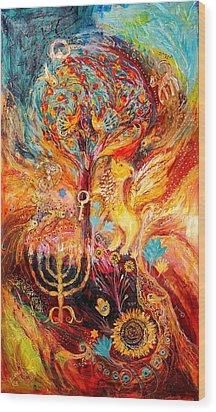 Zodiac Project Leo Virgo Cancer Wood Print by Elena Kotliarker