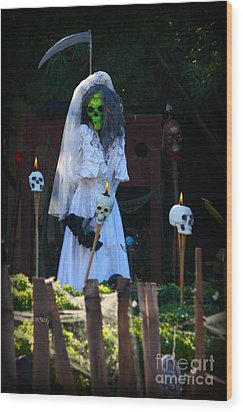 Zombie Bride Wood Print by Patrick Witz