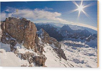 Zugspitze Summit Wood Print