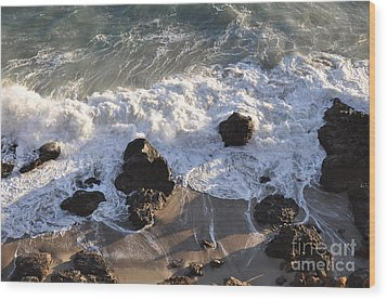 Wood Print featuring the photograph Zuma Beach by Gandz Photography
