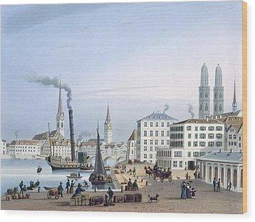 Zurich Wood Print by Swiss School
