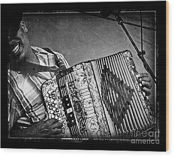Zydeco Wood Print by Jeanne  Woods