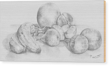 Summer Fruit Wood Print by Trudy Brodkin Storace