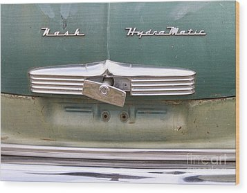 1951 Nash Ambassador Hydramatic Back Wood Print by James BO  Insogna