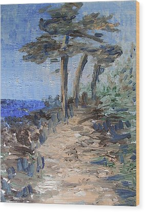 3 By The Sea Wood Print by Michel Croteau