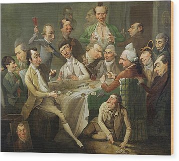 A Caricature Group Wood Print by John Hamilton Mortimer