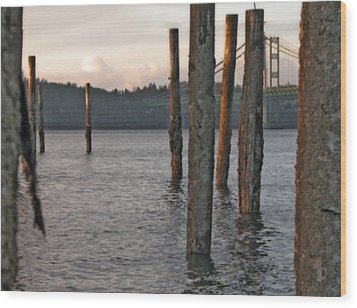 Wood Print featuring the photograph  A Titlow Sunset by Chris Anderson