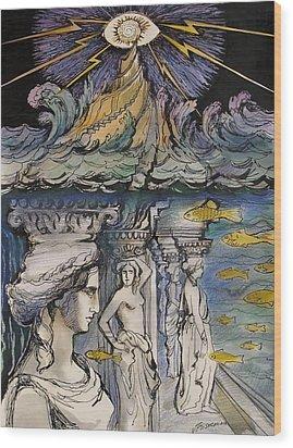 Atlantida Wood Print by Valentina Plishchina