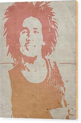 Bob Marley Brown Wood Print by Naxart Studio