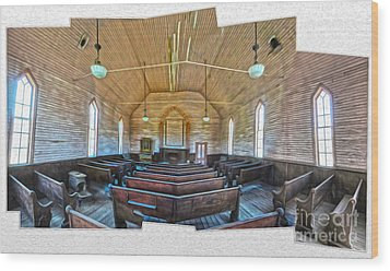 Bodie Ghost Town - Church 03 Wood Print by Gregory Dyer