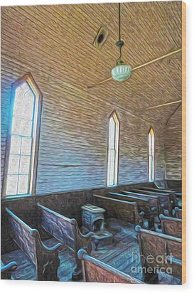 Bodie Ghost Town - Church 05 Wood Print by Gregory Dyer