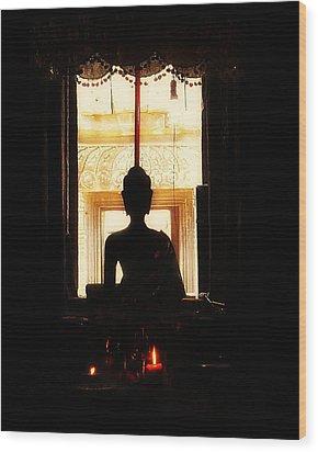 Wood Print featuring the photograph  Buddha by Lynn Hughes