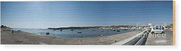 Bugibba Harbour Malta Wood Print by Guy Viner