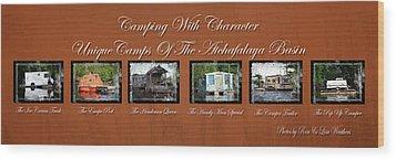 Camps Of The Atchafalaya Basin Wood Print
