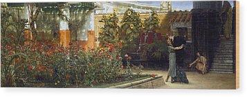 Corner Of A Roman Garden Wood Print by Sir Lawrence Alma-Tadema