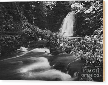 Gleno Or Glenoe Waterfall Beauty Spot County Antrim Northern Ireland Wood Print by Joe Fox