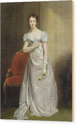 Harriet Smithson As Miss Dorillon Wood Print by George Clint