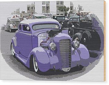 Hot Rod Purple Wood Print by Steve McKinzie