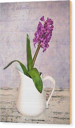 Hyacinth Wood Print by Kathy Jennings