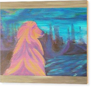 Lassie Wood Print by Hatin Josee