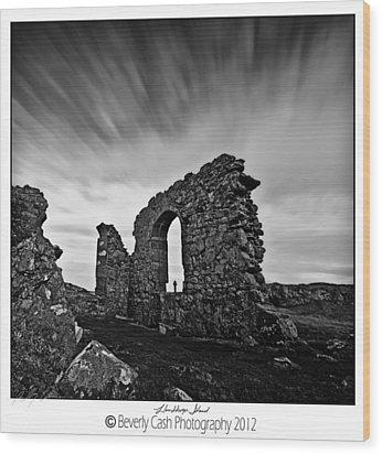 Llanddwyn Island Ruins Wood Print by Beverly Cash