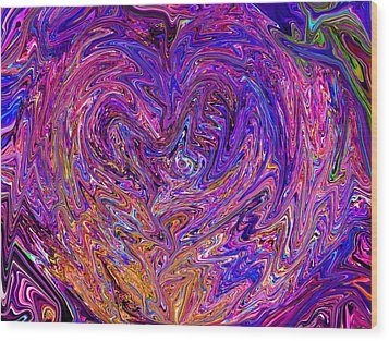 Love From The Ripple Of Thought  V 6  Wood Print