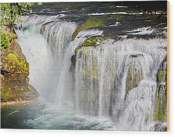 Lower Falls On The Upper Lewis River Wood Print