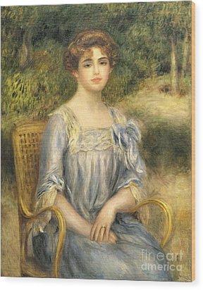 Madame Gaston Bernheim De Villers  Wood Print by Pierre Auguste Renoir