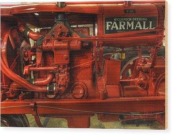 Mccormick Tractor - Farm Equipment  - Nostalgia - Vintage Wood Print by Lee Dos Santos