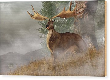 Megaloceros Giganteus Wood Print by Daniel Eskridge