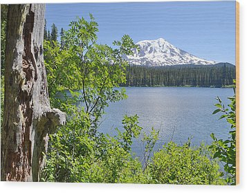 Mount Adams Wood Print