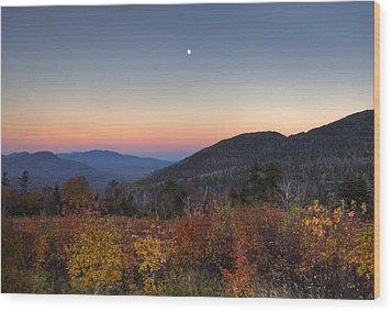 Mountain Twilight Wood Print by Jim Neumann