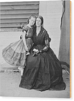 Mrs. Rose O�neal Greenhow Wood Print by Everett