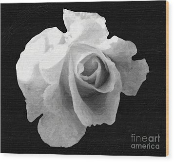 My Forgotten Rose Wood Print by AHcreatrix