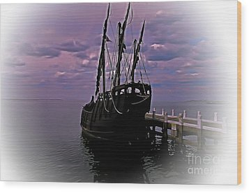 Notorious The Pirate Ship 5 Wood Print by Blair Stuart