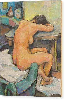 Nude Painting 2 Wood Print by Alfons Niex